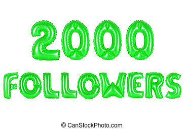 two thousand followers, green color