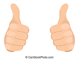 Two Thumbs Up - Stock vector of two thumbs up