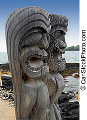 Two Tiki Gods