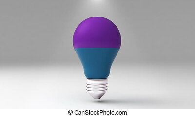 two title 3D bulb shape box, visualization shape a light bulb, presentation templete.