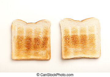 Two toasted slices of bread