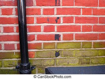 two tone brick wall