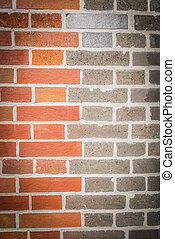 Two tone color brick wall 2