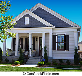 Two Tone New England House - two toned new england style...