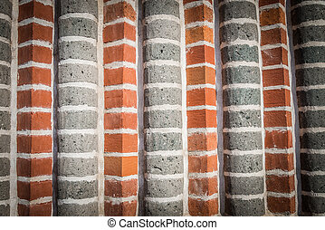 Two tone stripe wall pattern 2