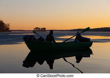 sunset on wood lake