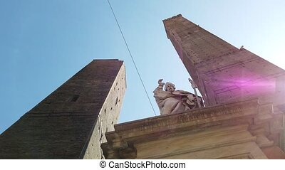 Two Towers Bologna - Perspective view of Due Torri or two ...