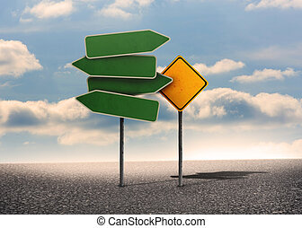 Two types of empty signposts