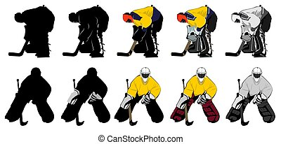 goal keeper - two types of goal keeper, different shading,