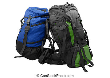 Two used tourist backpacks