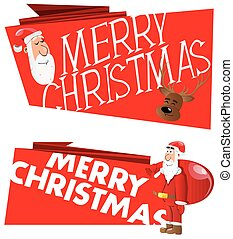 Two vector Christmas banner