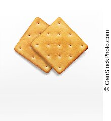 two vector cracker isolated on white background
