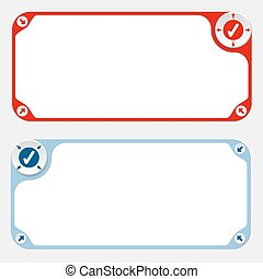 Two vector frames and arrows and check box