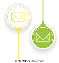 Two vector objects and envelope