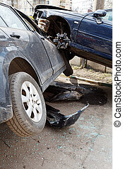 two vehicles during road accident