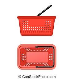 Two Views Of Supermarket Basket