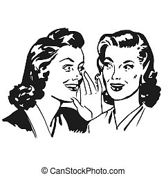 Two Vintage Girls Gossip