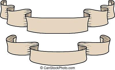 hand-drawn ribbons