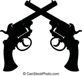 Two vintage handguns