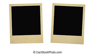 two vintage photo frames