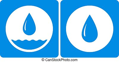 two water droplet icon