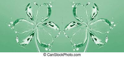 Two Water Shamrocks