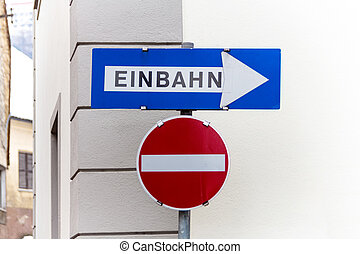 two-way street signs for - one-way, two road signs, symbol...