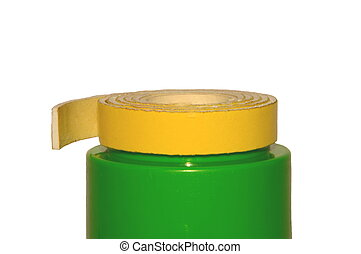 Two way tape on Green Object - Two way tape on green object....