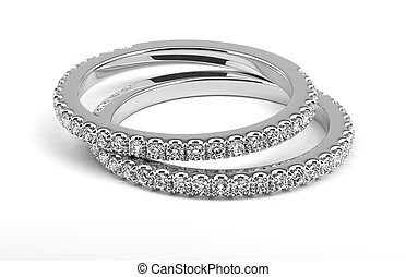 Two Wedding Rings Illustration Of Connected