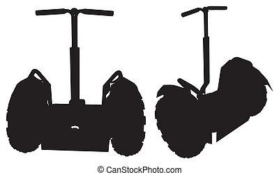 Two Wheeler Personal Transporter Vector