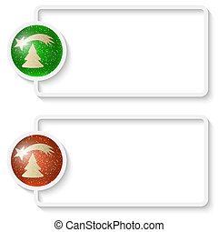 two white abstract text frame with a Christmas theme
