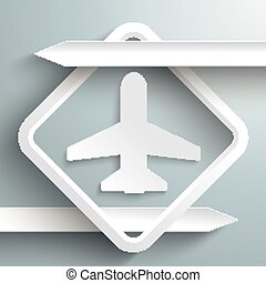 Two White Arrows Plane - Infographic with white arrows and ...