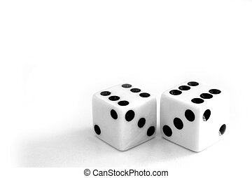 dices - two white dices