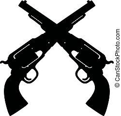Two wild west handguns