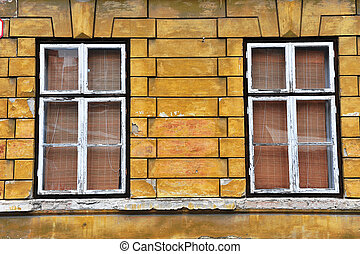 Two windows in the old house