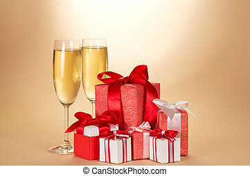 Two wine glass, set of gift boxes