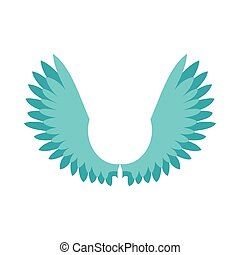 Two wings icon, flat style