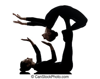 two people yoga positions images and stock photos 1319