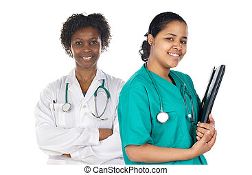 Two women doctor
