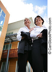 Two women real estate promoters