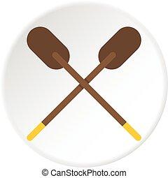 Two oars for canoe.