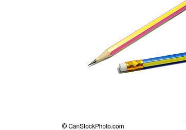 Two wooden sharp pencils