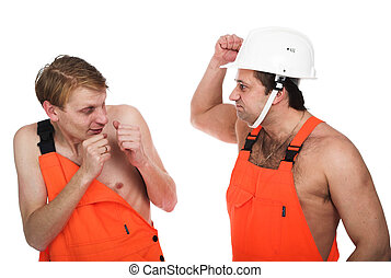 Two workers
