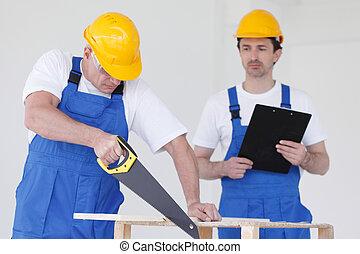 two workmen