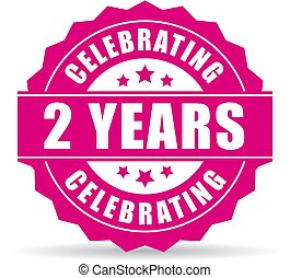 Two years anniversary celebrating icon