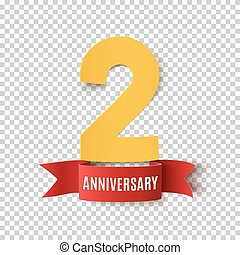 Two years anniversary design template.