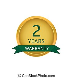 Two years warranty label