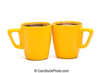 mugs of coffee