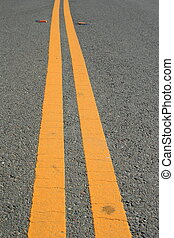 Two Yellow Road Lines