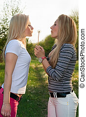 Two young blonde